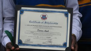 One of the awards for Financial Assistance.