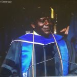Prof Ngassa delivering 2017 Convocation Address at GVS University