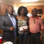 President Itoe(L), Florence Iboni(M) and Dr. Enow(R)